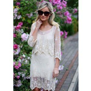 NWOT Zara boho sheer mesh dress size Medium